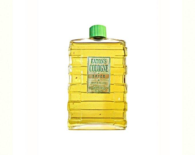 Antique Eaton's Spice Perfume Cologne 8 oz (237ml) Splash Vintage 1930s Art Deco Bottle