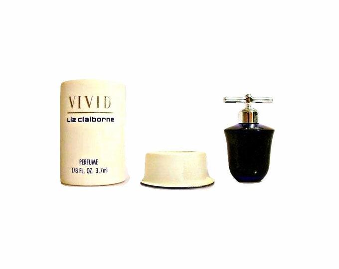 Vintage Vivid by Elizabeth Arden Perfume 1/8 oz Parfum 1990s Mini Miniature