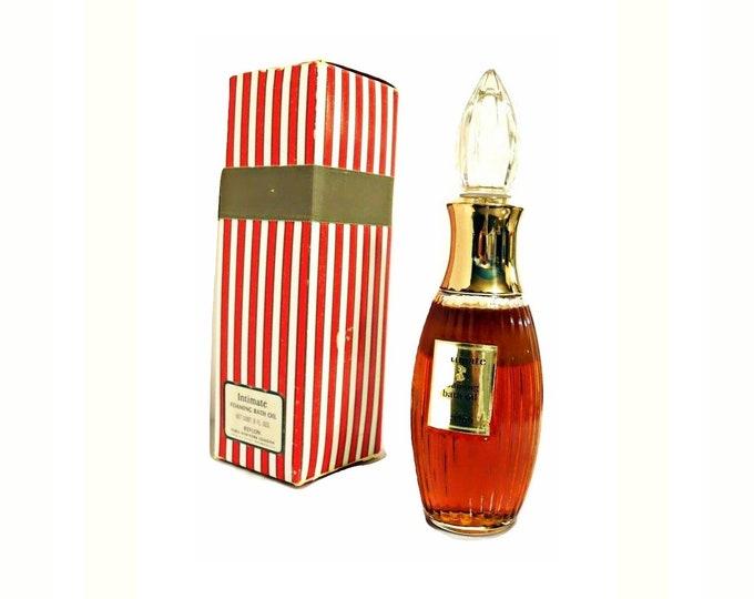 Vintage Intimate Perfumed Bath Oil by Revlon 8 oz Foaming Oil Bubble Bath with Box 1960s -1970s Formula