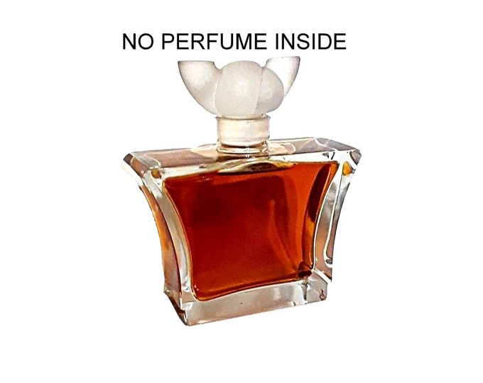 Vintage 1940s Dark Brilliance by Lentheric Parfum Heavy Cut Crystal Large Factice Dummy Perfume Bottle