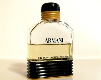 Vintage 1980s Eau Pour Homme by Giorgio Armani 1.7 oz Eau de Toilette Splash COLOGNE
