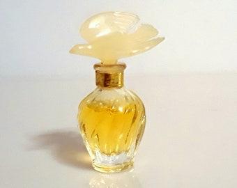 Vintage 1980s L'Air du Temps by Nina Ricci Parfum Splash Mini Perfume Bottle Double Dove Stopper