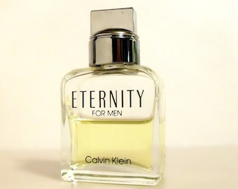 Vintage 1990s Eternity for Men by Calvin Klein 0.5 oz Cologne Splash Mini Miniature Travel Size