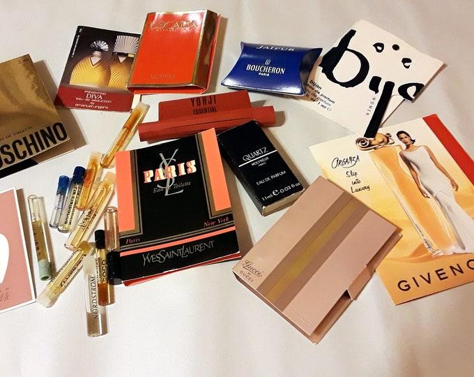 Vintage Perfume Sample Lot of 17 Assorted Brands Men's Women's Fragrance Samples