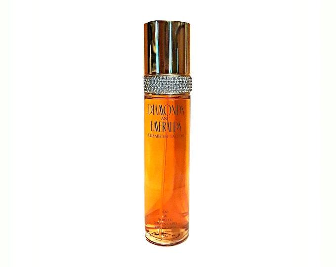 Vintage Diamonds and Emeralds Perfume by Elizabeth Taylor 3.4 oz Eau de Toilette 1990s Spray