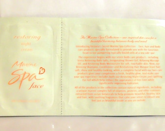 Vintage 1990s Victoria's Secret Marine Spa Face  Restoring Night Cream Sample Packet