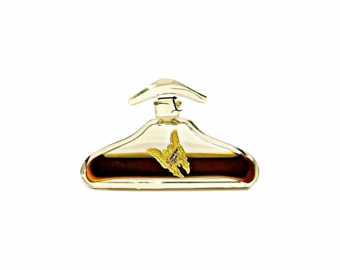 Antique Juneve Perfume by Reval Langlois Pure Parfum 1920s Czech Crystal Art Deco Bottle Butterfly Label