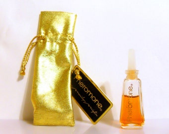 Vintage 1980s Pheromone by Marilyn Miglin 0.125 oz Parfum Mini Miniature and Pouch PERFUME