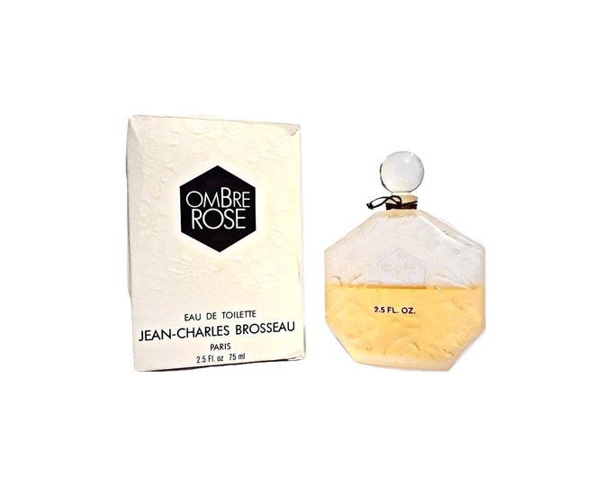 Vintage Ombre Rose by JC Brosseau Perfume 2.5 oz Eau de Toilette Splash Alfin 1980s Original Formula
