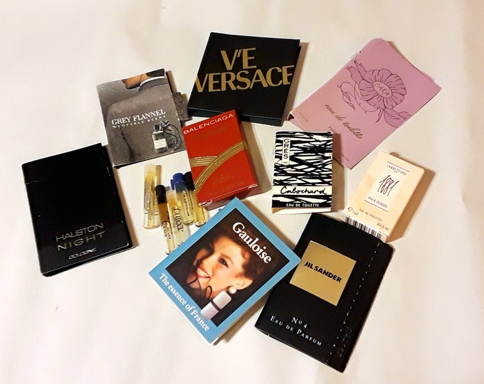 Vintage Perfume Sample Lot of 14 Assorted Brands Men's Women's Fragrance Samples