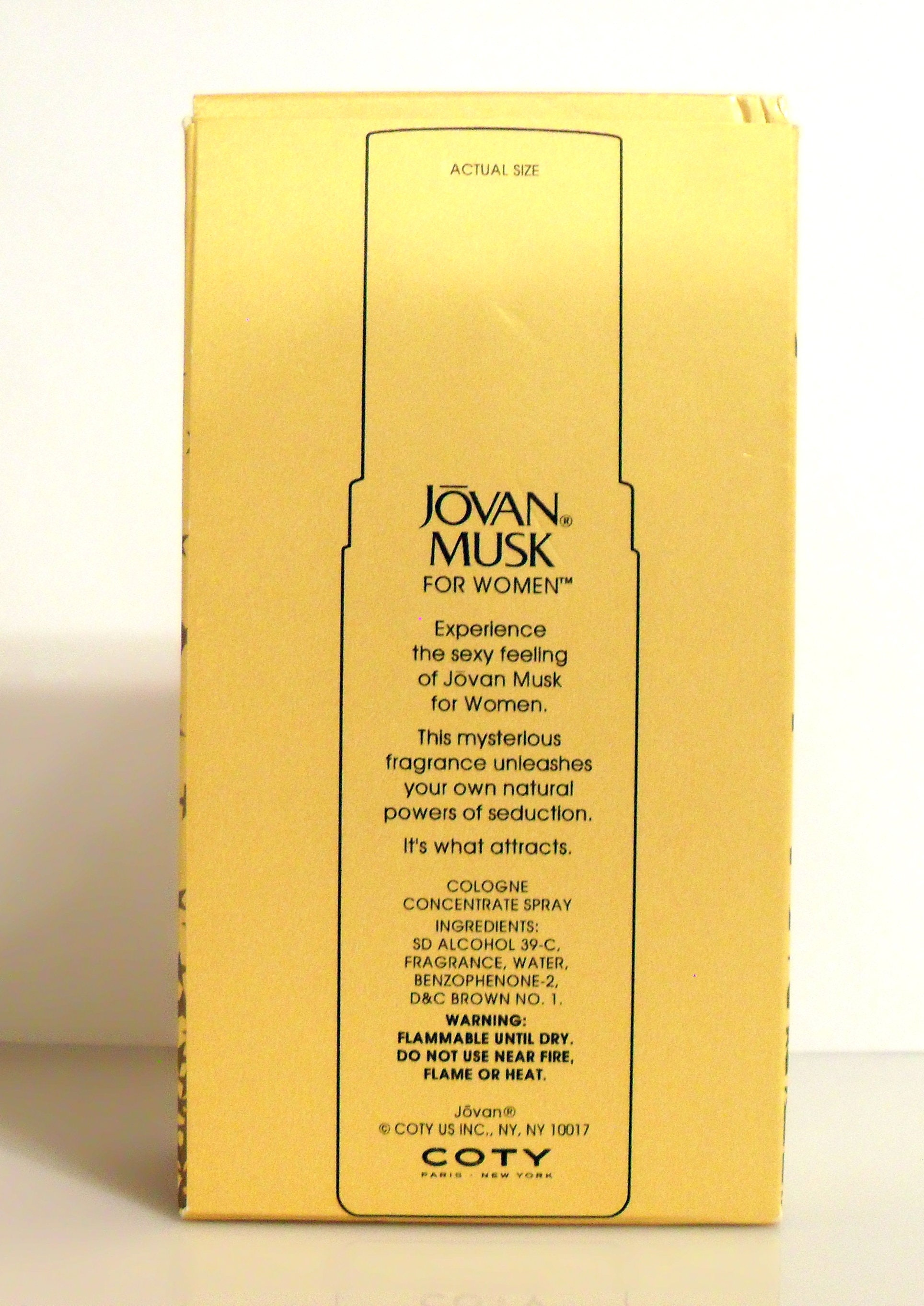 Vintage 1990s Jovan Musk For Women By Coty 2 Oz Cologne Concentrate