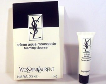 Vintage 1990s YSL Yves Saint Laurent Creme Aqua Moussant Foaming Cleanser Sample Tube