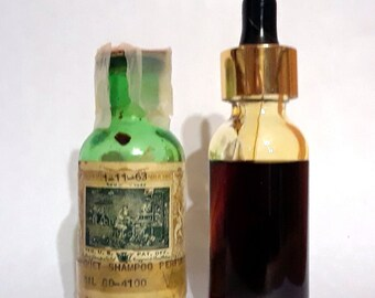 Vintage 1960s 1 oz Bouquet Shampoo Perfume Givaudan Delawanna Perfume Creation Essential Oil Perfumery Making