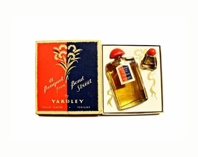 Vintage Bond Street by Yardley Perfume Toilet Water and Mini Parfum 1950s Gift Set