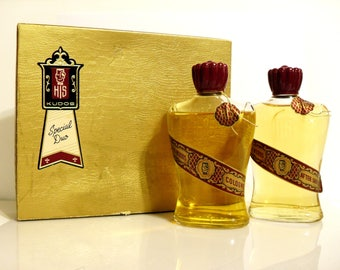 Vintage 1950s North Woods by HIS House of Men 4 oz Aftershave and 4 oz Cologne Splash Set in Gift Box