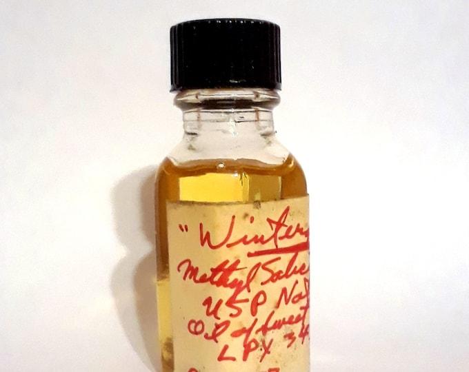 "Vintage 1970s 12ml ""Wintergreen"" Oil of Sweet Birch Methyl Salicylate PERFUME BASE Accord Creation Essential Oil Perfumery Making"