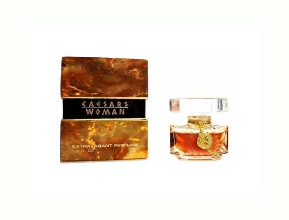 Vintage Caesars Woman Perfume 0.25 oz (7.5ml) Pure Parfum 1980s Mini Miniature and Box