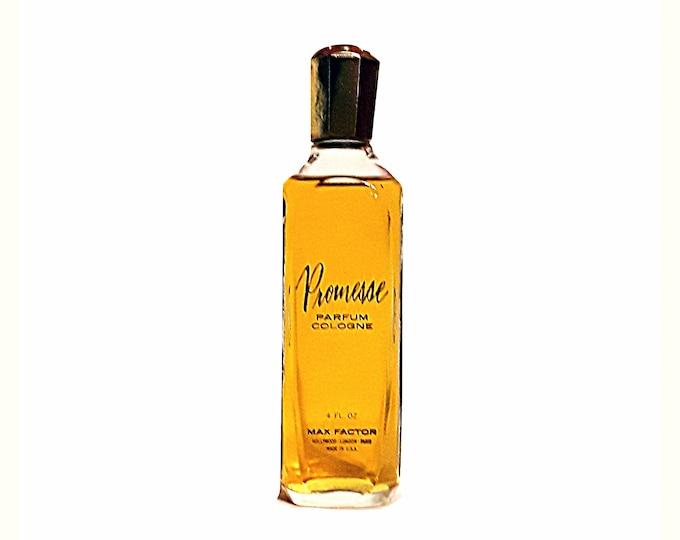 Vintage Promesse by Max Factor Perfume 4 oz Parfum Cologne Splash 1960s DISCONTINUED PERFUME