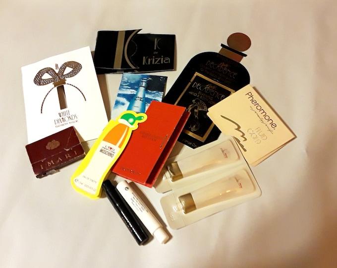 Vintage Perfume Sample Lot of 12 Assorted Brands Women's Fragrance Samples