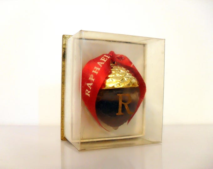 Featured listing image: Vintage Perfume 1950s Replique by Raphael 0.25 oz Pure Parfum Splash and Box Lalique Acorn Flacon Sealed Original Formula