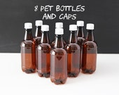 8 PET Beer Bottles with Caps - Home Brewing Supplies