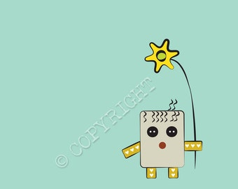 """LOOPY LOODLE CRITTER-- 8"""" x 8"""" digital print of illustration"""