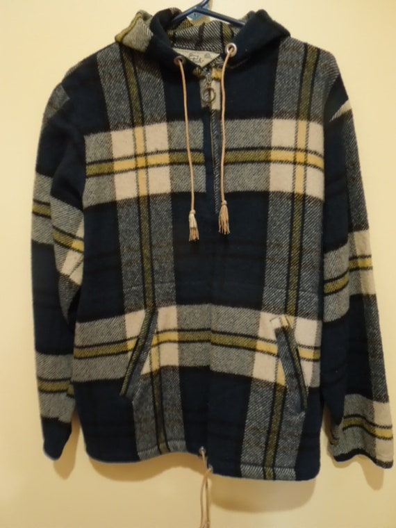 Rare 1970s Woolrich  Pullover Shirt Jacket Vintage