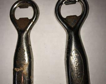 Two Metal Bottle Openers - 1960s