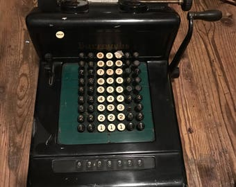 Fantastic Burrough's Deluxe Adding Machine - Functionally Sound