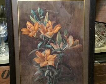 Fantastic Still Life Framed Print - Tiger Lilies