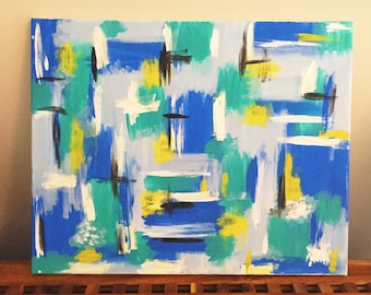 Abstract Blues- Acrylic on canvas