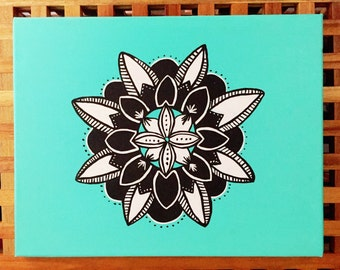 Zentangle- Acrylic on canvas