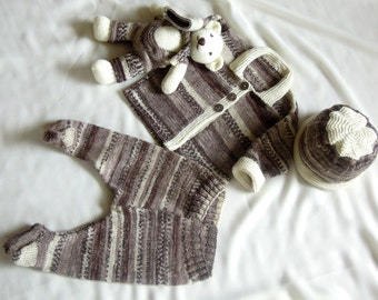 6c75366c350e9b KNITTING PATTERN-Quick knit baby jacket hat and matching