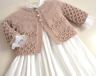 04cff196ee5c3 KNITTING PATTERN-Shell border baby cardigan P097