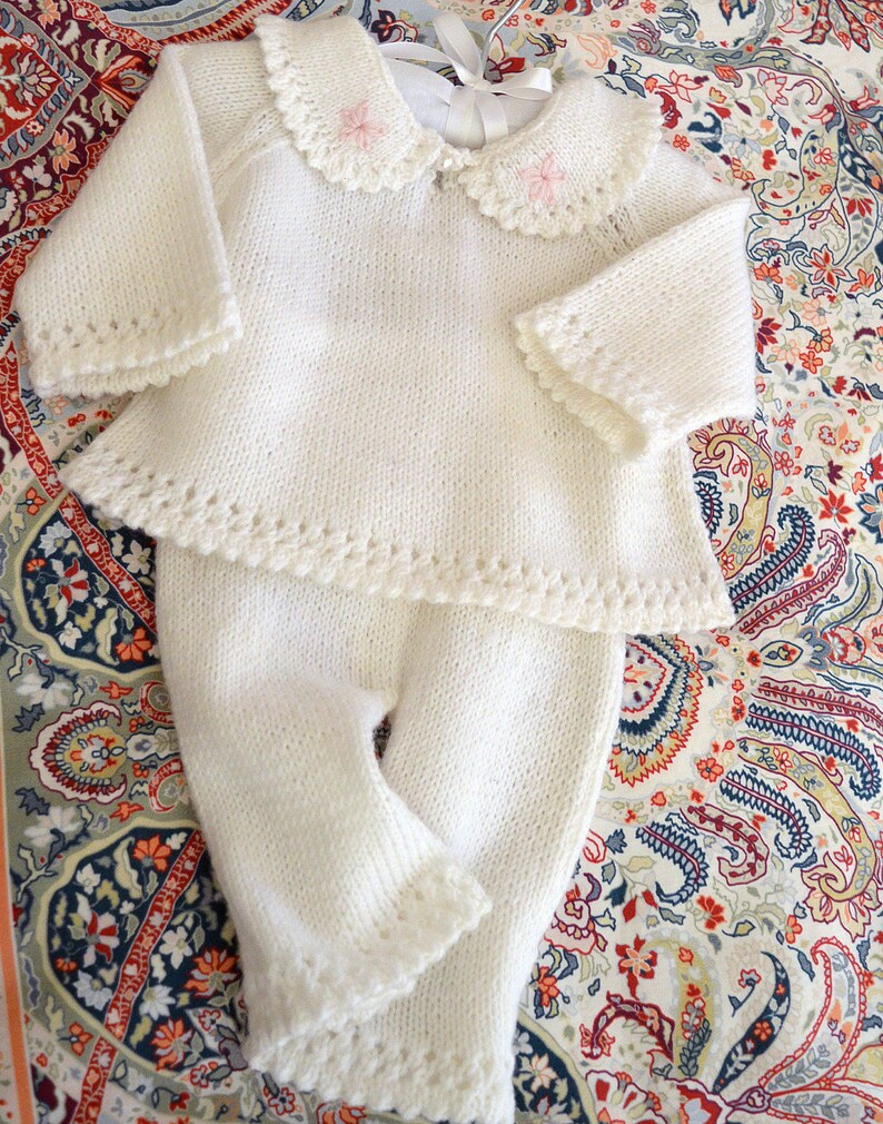ce7d8c084 KNITTING PATTERN-Baby sweater and pants set P021