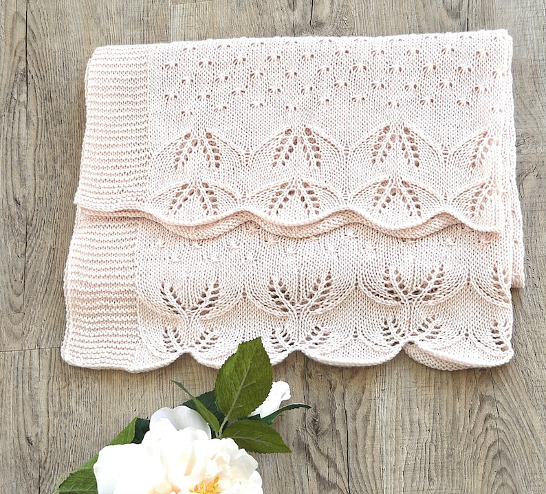 KNITTING PATTERN-Butterfly Kisses Baby Blanket P119 | Etsy