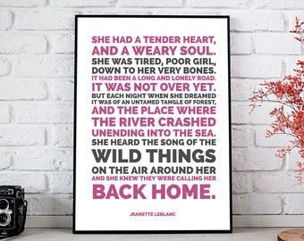 Wild Things // Fine Art Print // Inspirational Art // Motivational Art // Typography // Jeanette LeBlanc