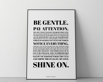 For Those With The Bravery To Start Again || Modern Typographic Art Print