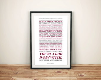 You Are A God Damn Witch // Art Print