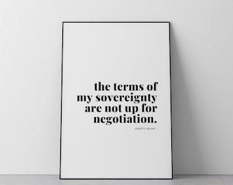 The Terms Of My Sovereignty // Inspirational Art // Fine Art Print // Motivational Art // Typography // Jeanette LeBlanc