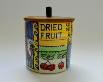 Anita Nylund Design for Jie Gantofta Pottery Swedish Dried Fruit Storage Jar