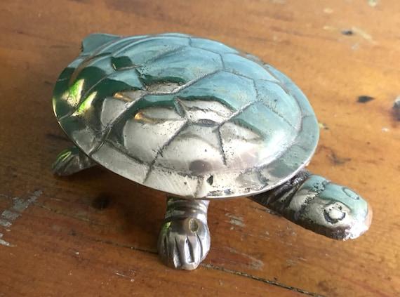 Brass Tortoise Trinket Box Etsy