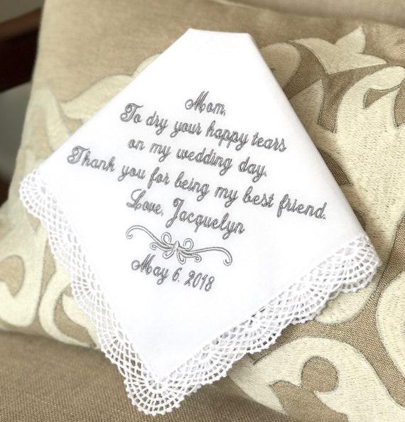 Wedding Gift For Mom From Bride Wedding Handkerchief Etsy