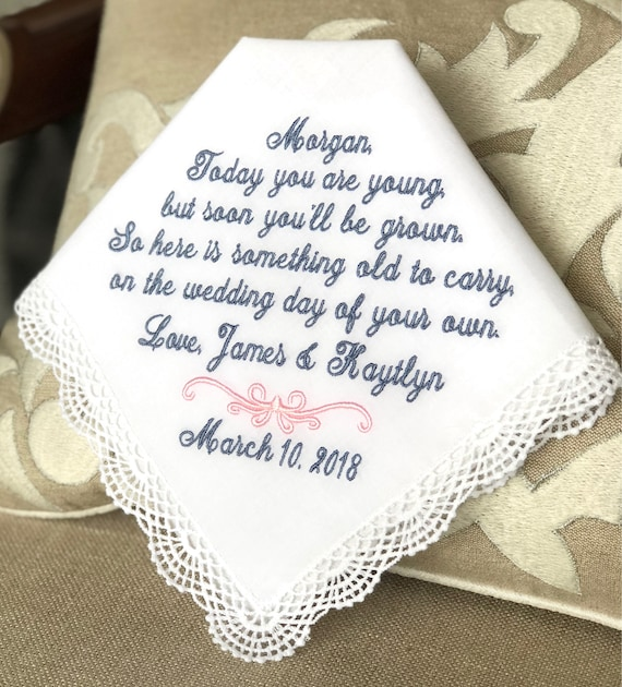 Flower Girl Wedding Gift Handkerchief Today You Are Young Etsy