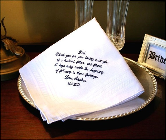 Father Of The Groom Handkerchief Hankie Hanky Thank You