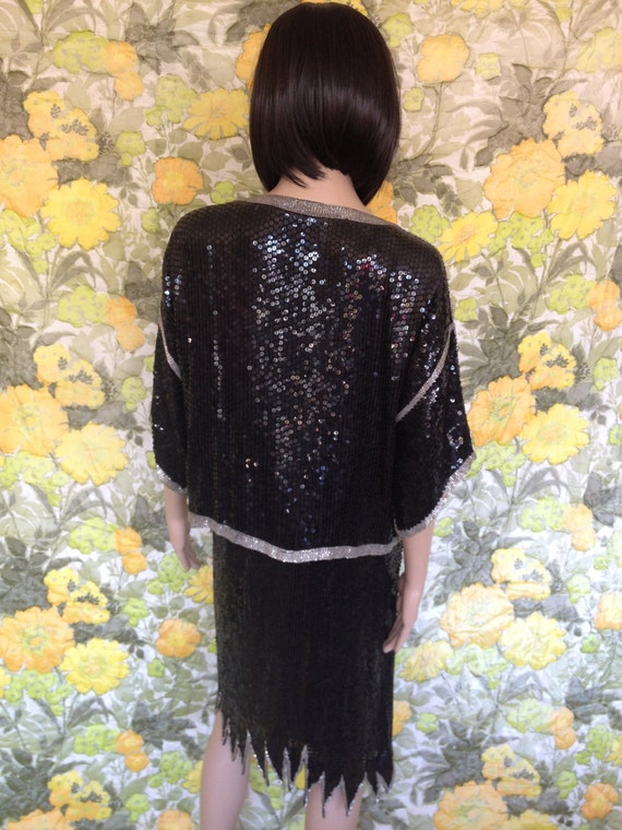 Black Glitter - chic black kimono coat - fully bea