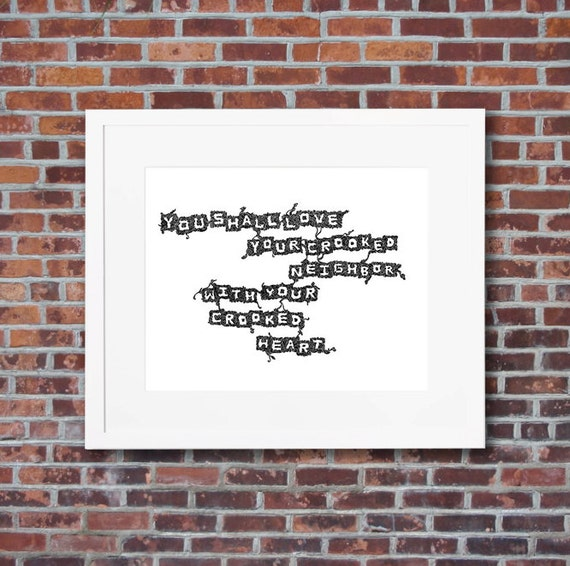 20th Century Poet W H Auden Quote Art - Hand-written typography print -  Black and white line art - multiple sizes & FREE SHIPPING* available