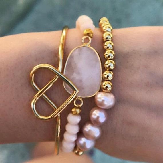 Bracelets, boho bracelet stack