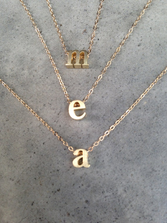 Vermeil initial jewelry, Personalized, letter necklace, personalized necklace, monogram necklace, personalized jewelry, custom jewelry