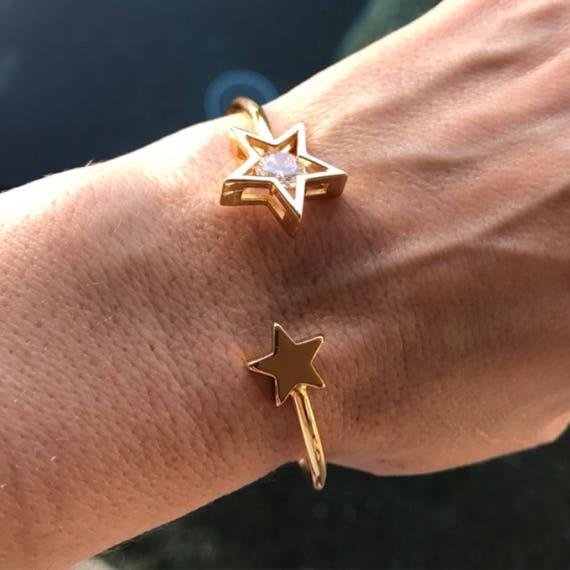 Star cuff bracelets, gold star bracelets, star jewelry, boho jewelry